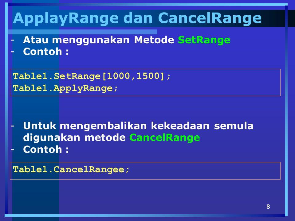 ApplayRange dan CancelRange