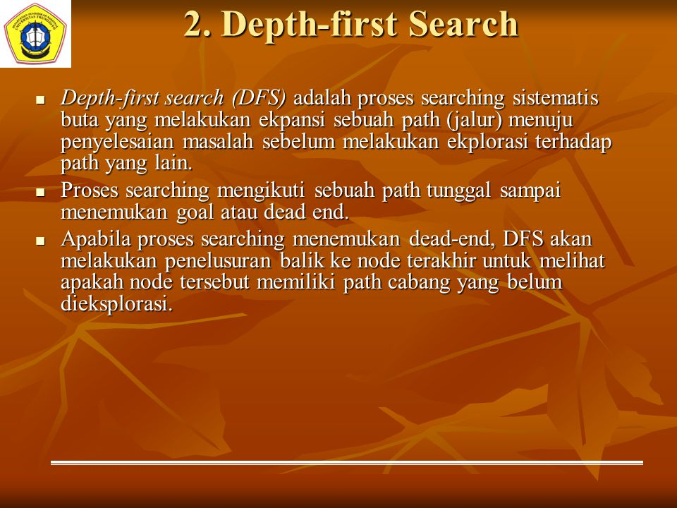 2. Depth-first Search