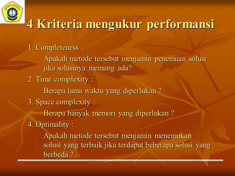 4 Kriteria mengukur performansi