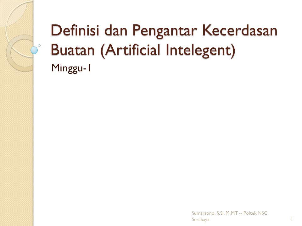 Definisi dan Pengantar Kecerdasan Buatan (Artificial Intelegent)