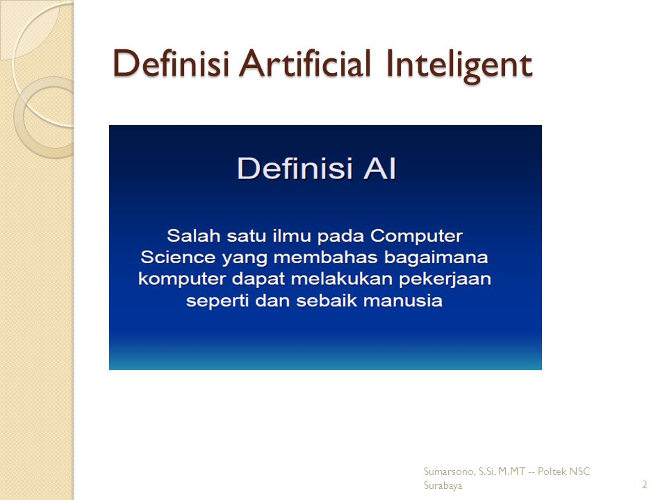 Definisi Artificial Inteligent