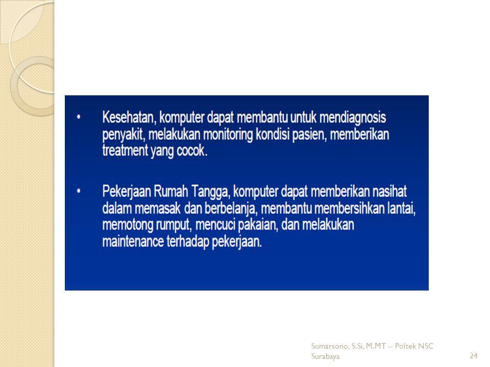 Sumarsono, S.Si, M.MT -- Poltek NSC Surabaya