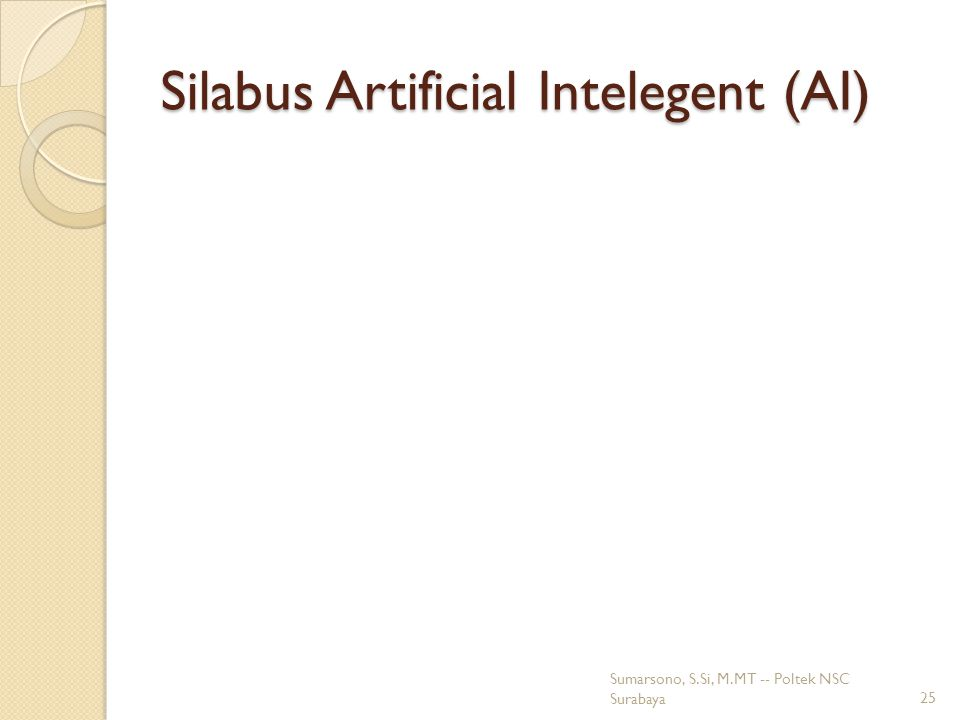 Silabus Artificial Intelegent (AI)