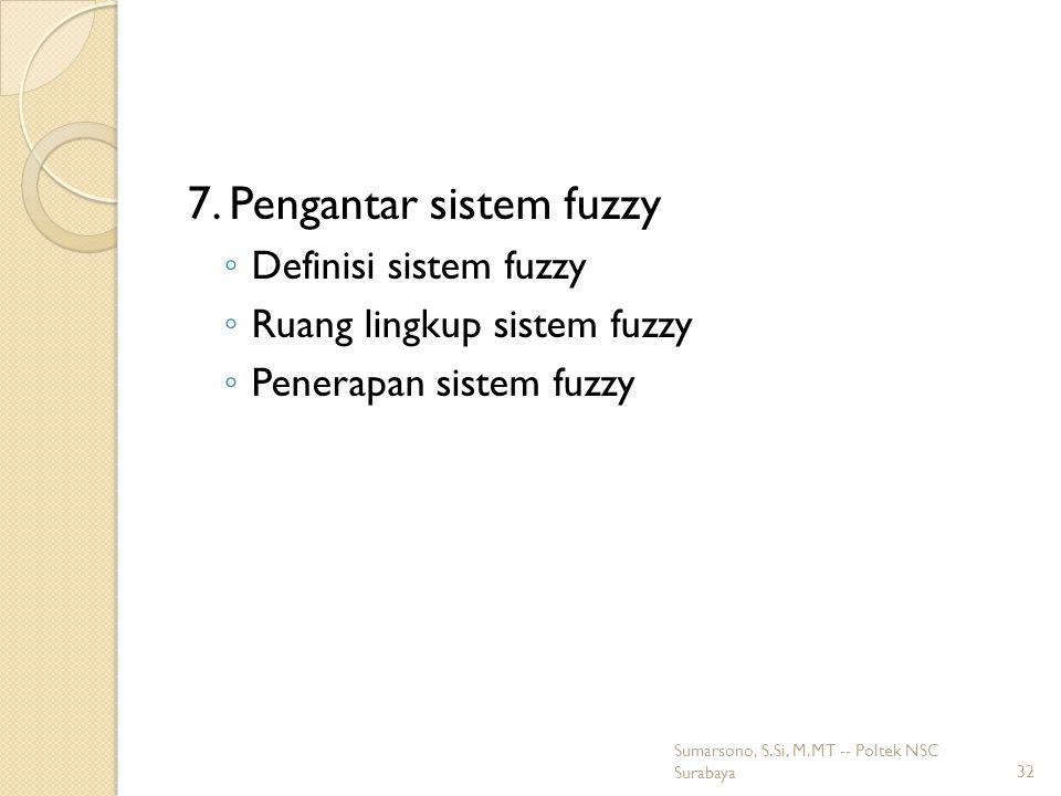 7. Pengantar sistem fuzzy