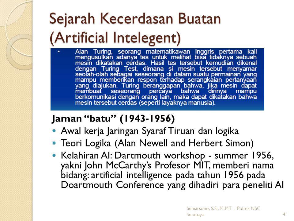 Sejarah Kecerdasan Buatan (Artificial Intelegent)