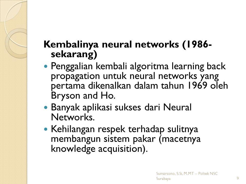 Kembalinya neural networks (1986- sekarang)