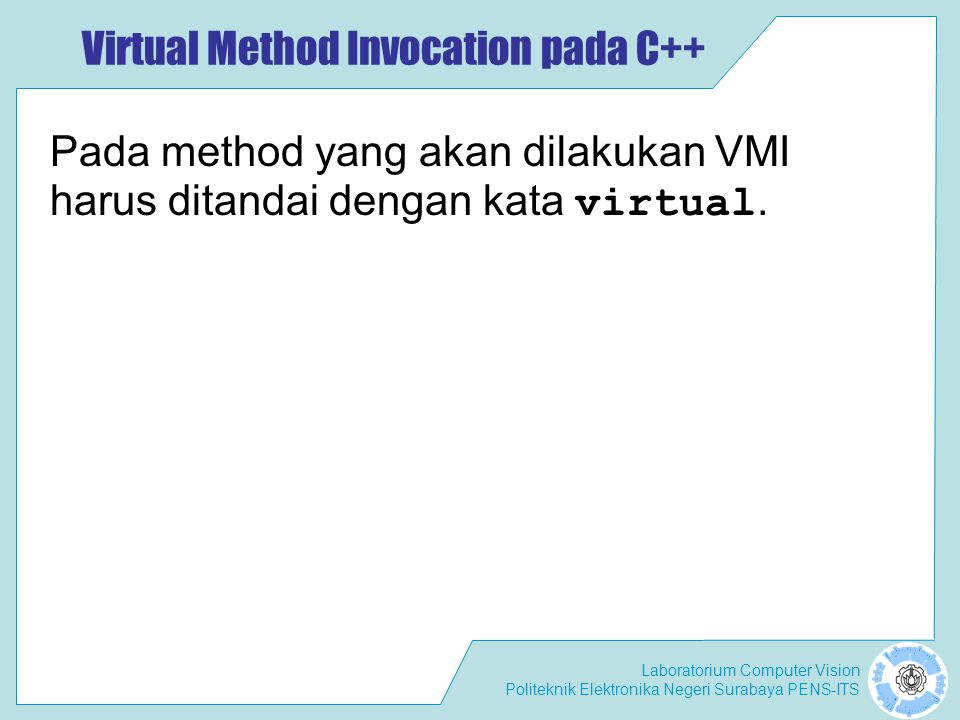 Virtual Method Invocation pada C++