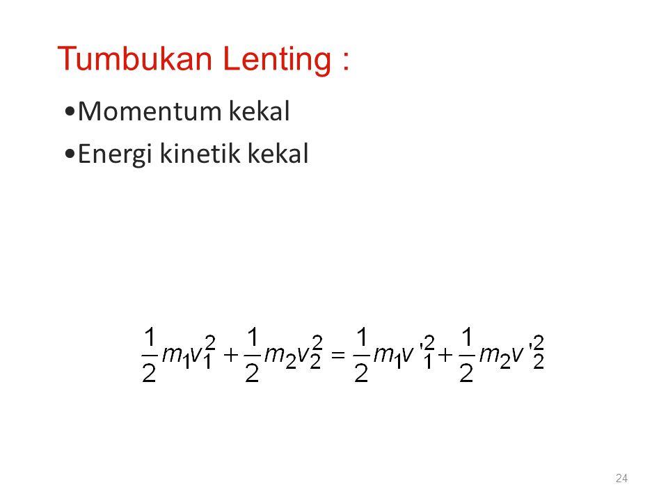 Momentum kekal Energi kinetik kekal