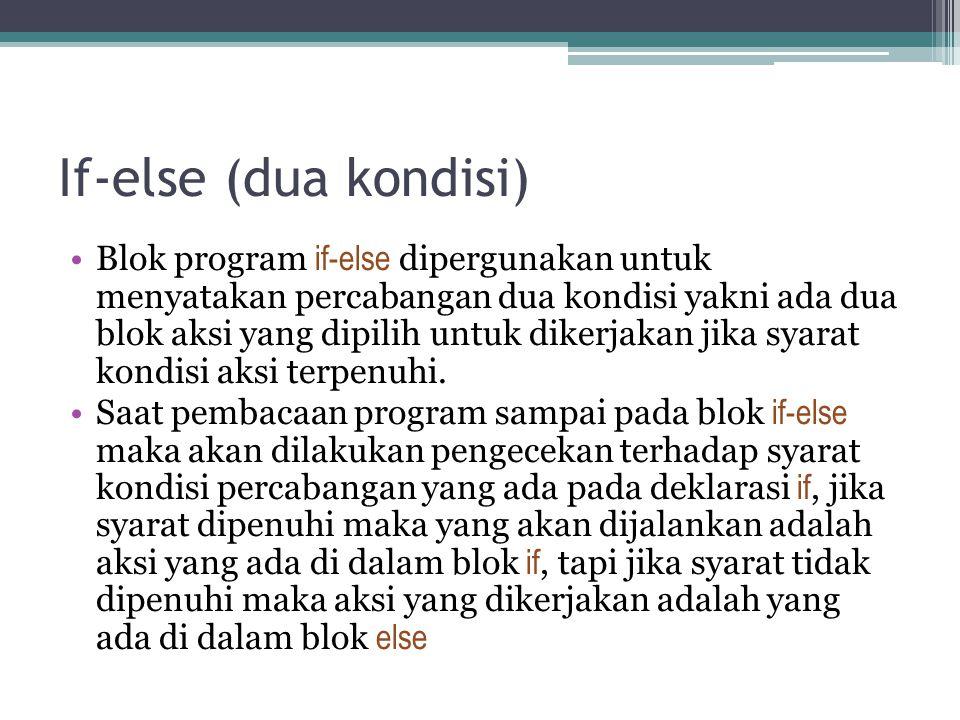 If-else (dua kondisi)