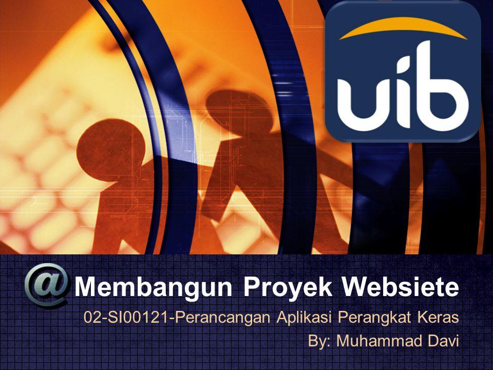 Membangun Proyek Websiete