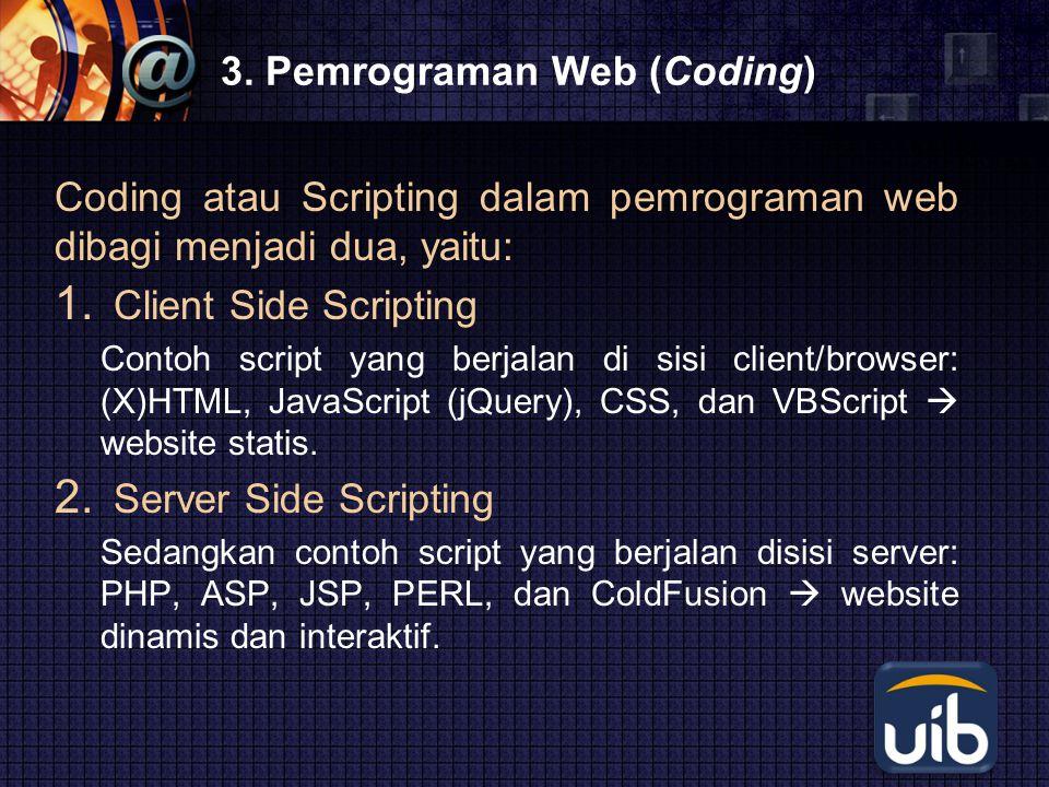 3. Pemrograman Web (Coding)