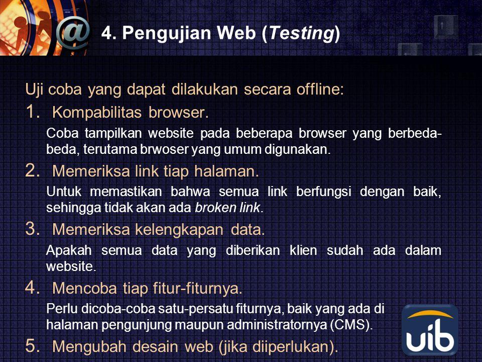 4. Pengujian Web (Testing)