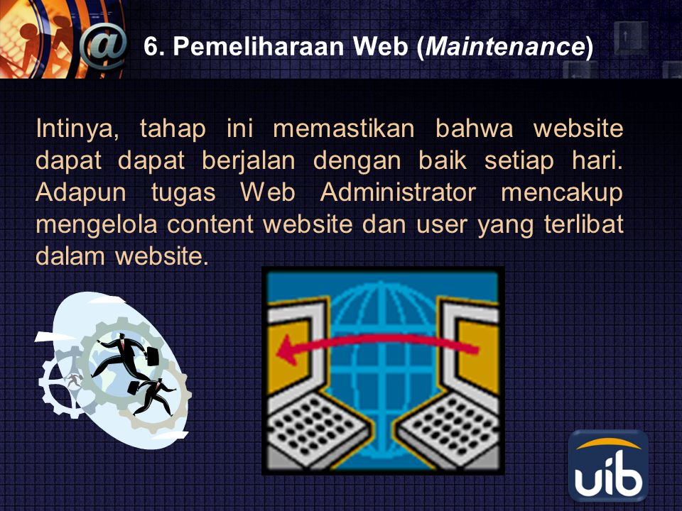6. Pemeliharaan Web (Maintenance)