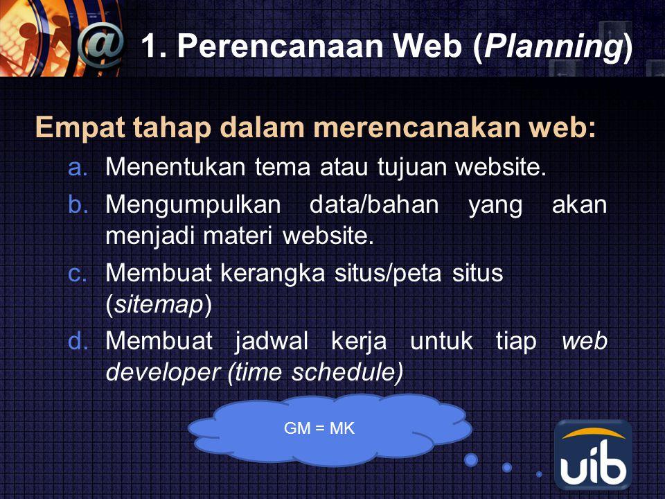 1. Perencanaan Web (Planning)