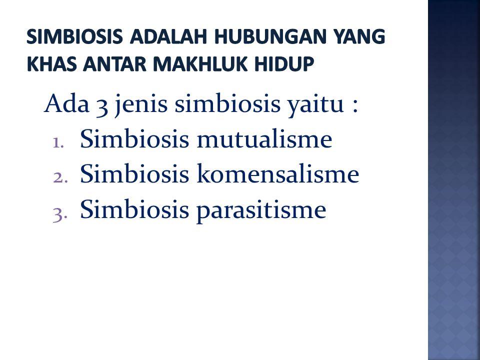 Simbiosis adalah hubungan yang khas antar makhluk hidup