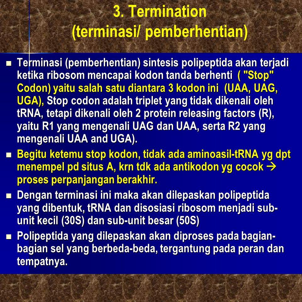 3. Termination (terminasi/ pemberhentian)