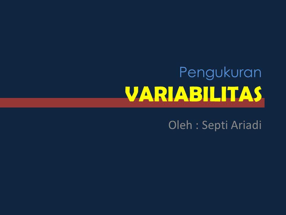 Pengukuran VARIABILITAS