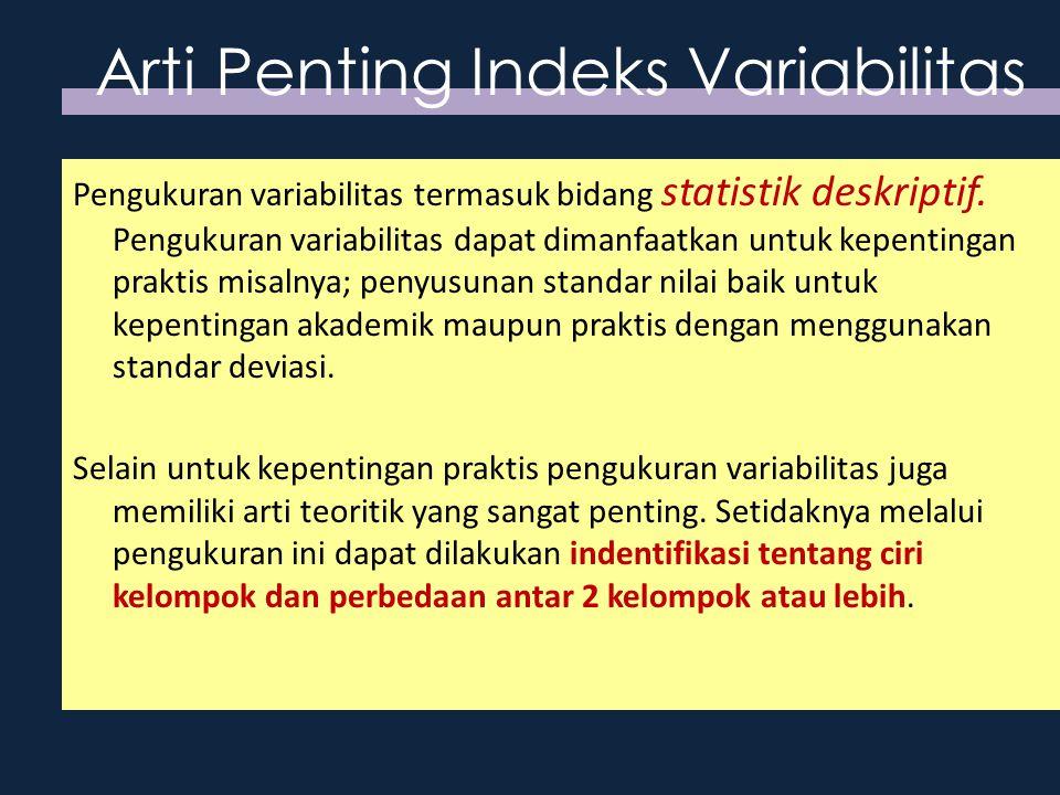 Arti Penting Indeks Variabilitas