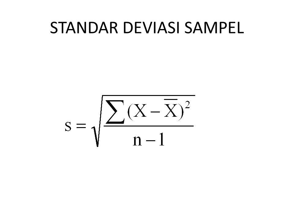 STANDAR DEVIASI SAMPEL