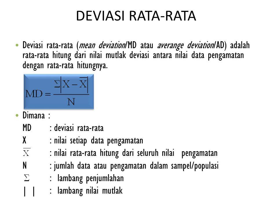 DEVIASI RATA-RATA