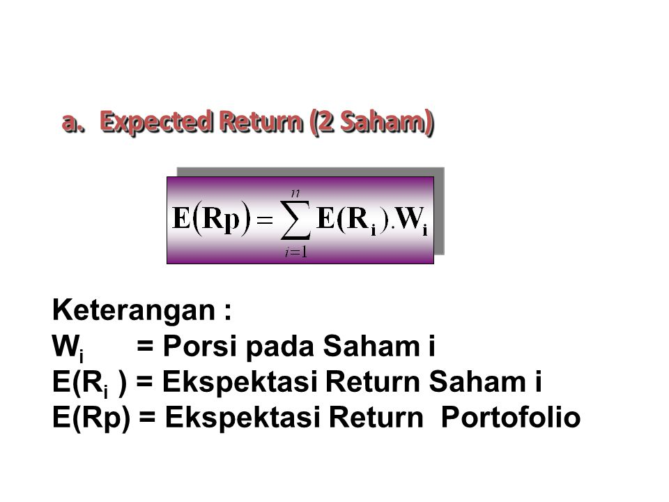 Expected Return (2 Saham)