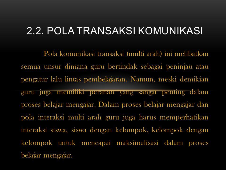 2.2. pola transaksi komunikasi