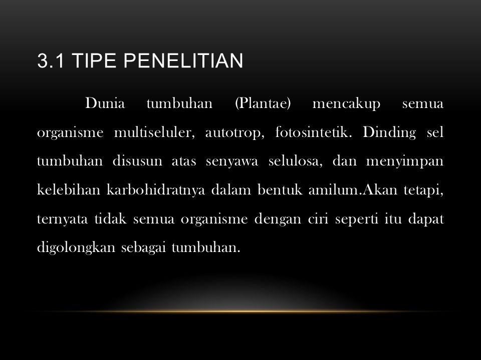 3.1 TIPE PENELITIAN
