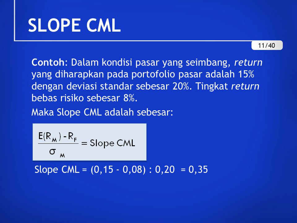 SLOPE CML 11/40.