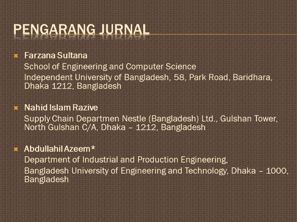Pengarang jurnal Farzana Sultana