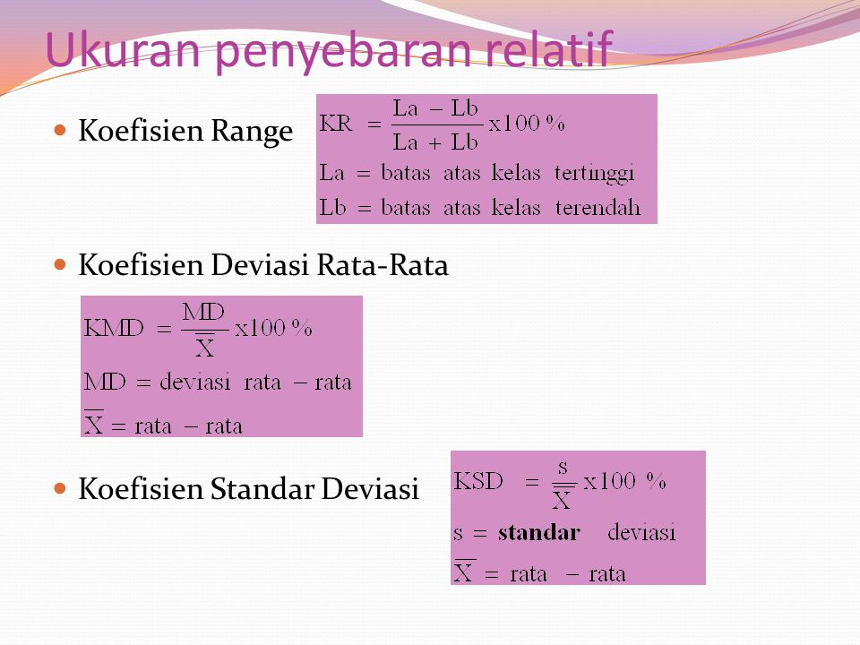 Ukuran penyebaran relatif