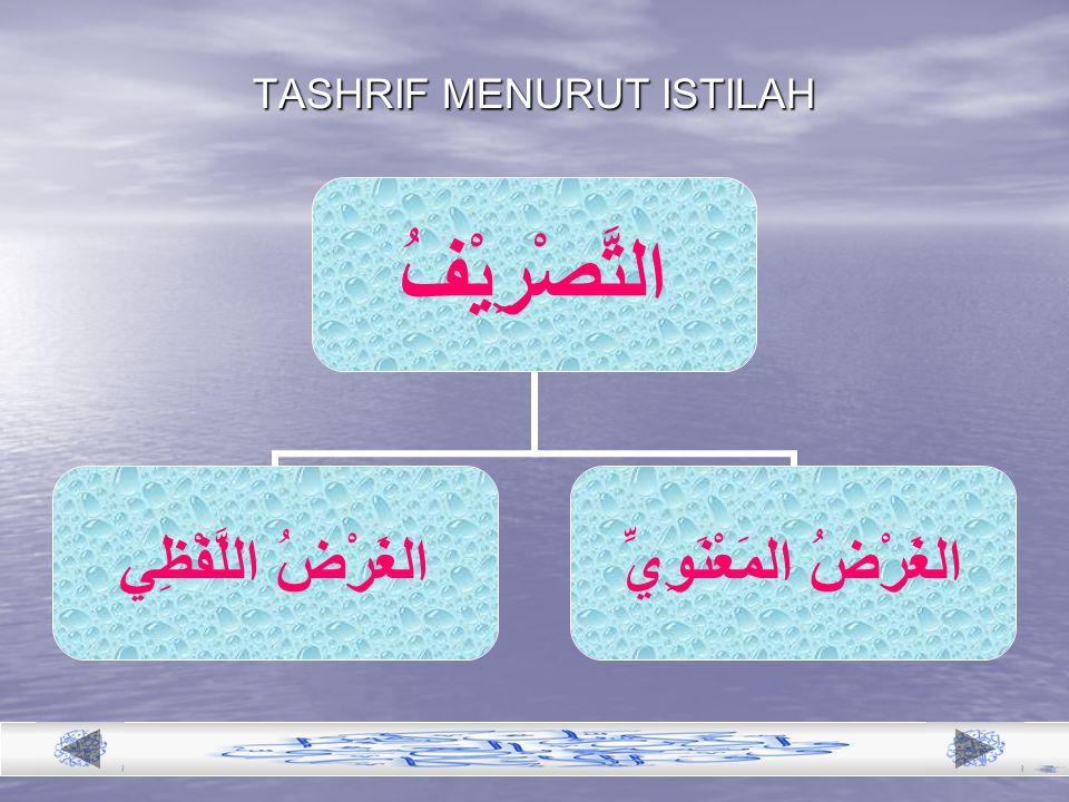 TASHRIF MENURUT ISTILAH