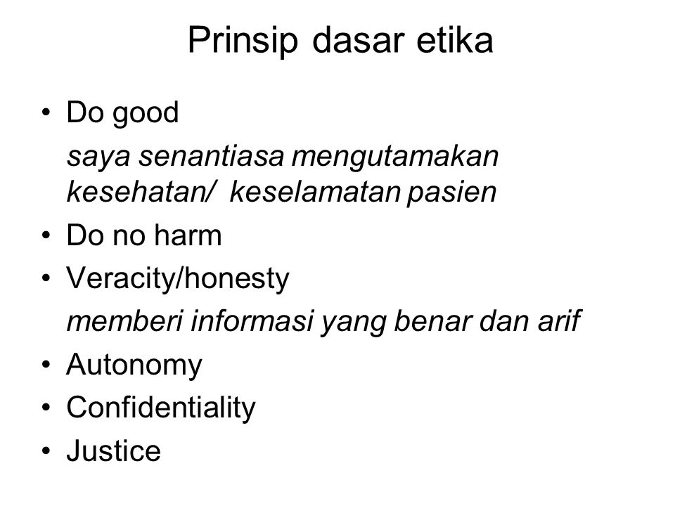 Prinsip dasar etika Do good