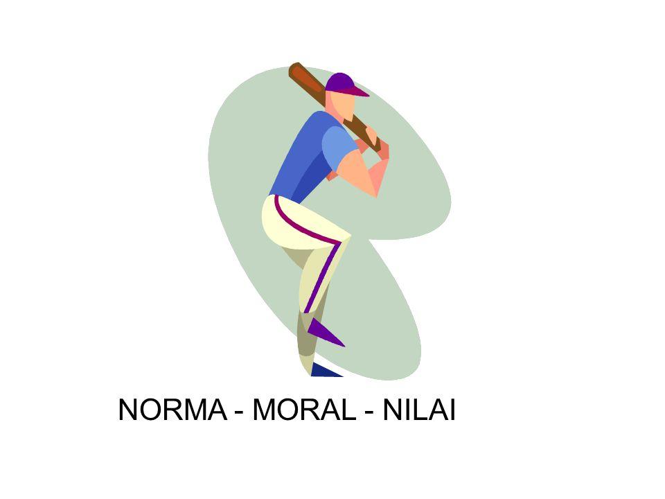 NORMA - MORAL - NILAI