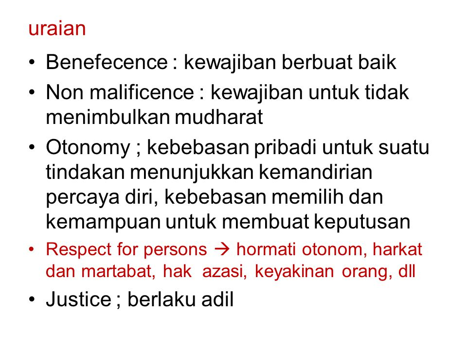 Benefecence : kewajiban berbuat baik