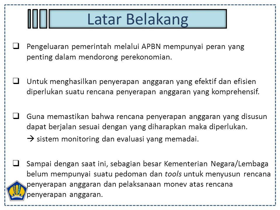 Latar Belakang Pengeluaran pemerintah melalui APBN mempunyai peran yang penting dalam mendorong perekonomian.