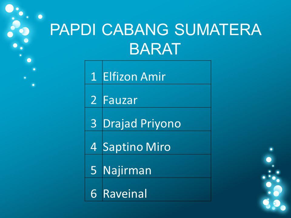 PAPDI CABANG SUMATERA BARAT