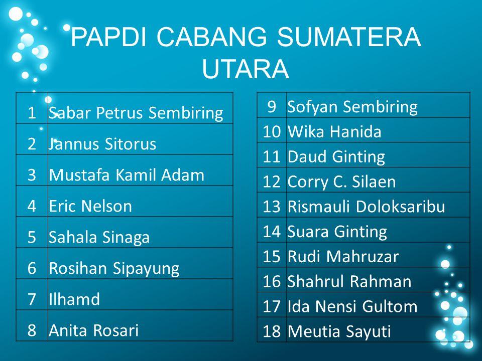 PAPDI CABANG SUMATERA UTARA