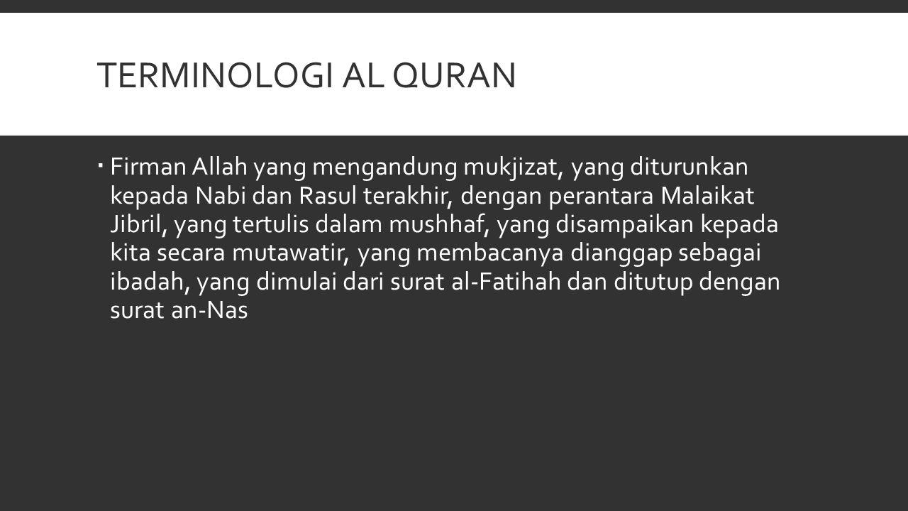 terminologi AL QURAN
