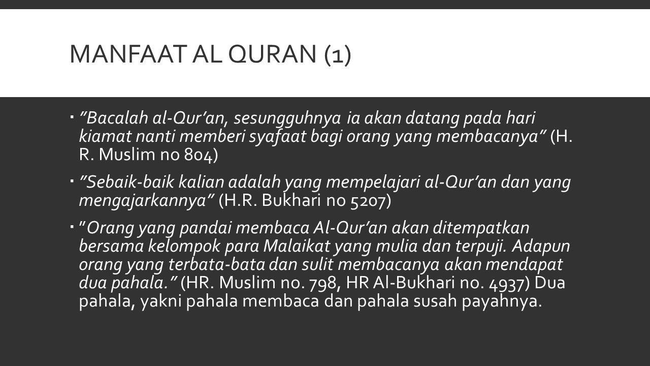 Manfaat al quran (1)