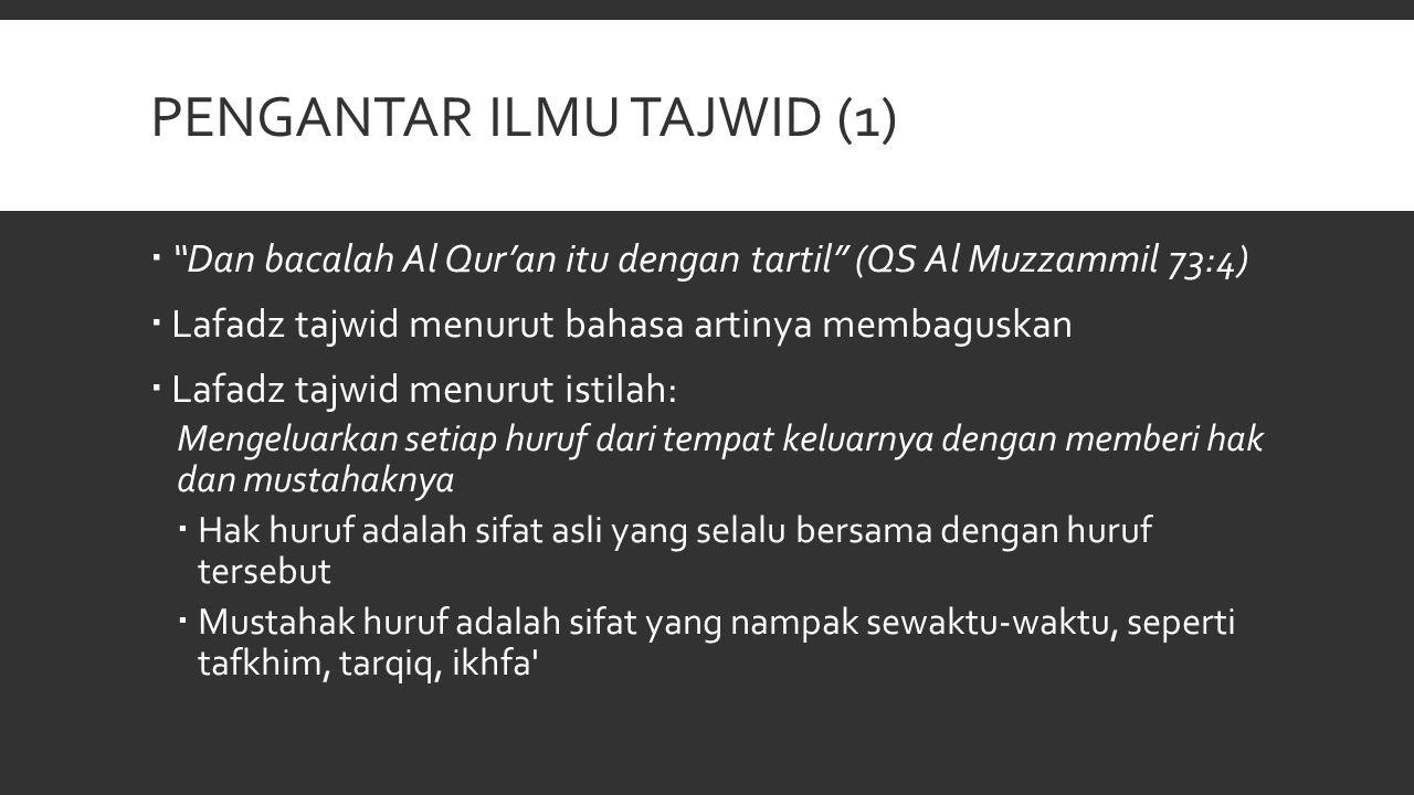 Pengantar Ilmu tajwid (1)