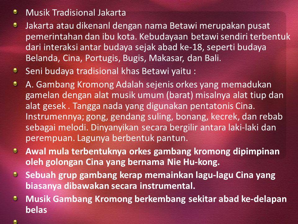 Musik Tradisional Jakarta