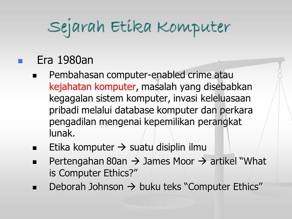 Sejarah Etika Komputer