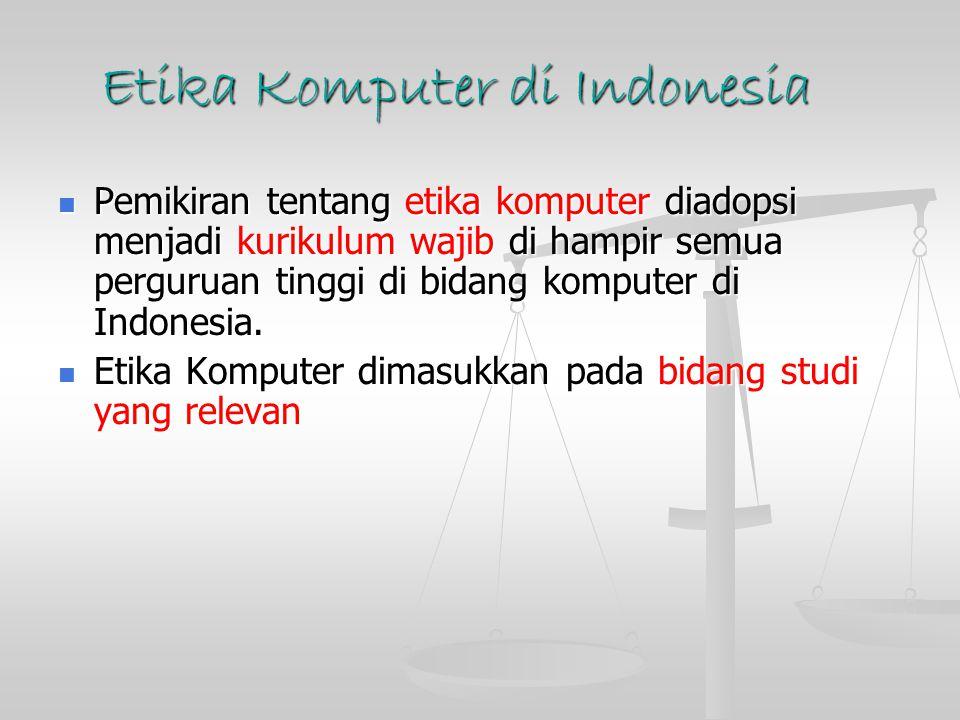 Etika Komputer di Indonesia