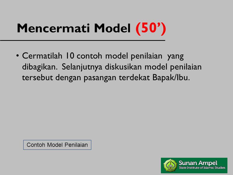 Contoh Model Penilaian