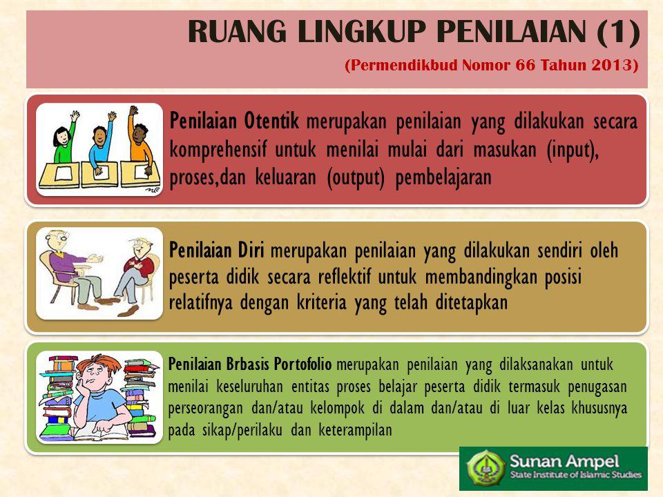 RUANG LINGKUP PENILAIAN (1)