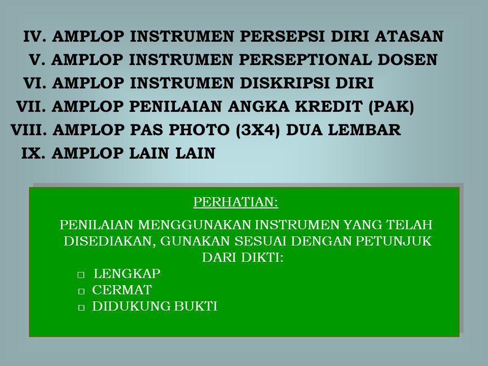 IV. AMPLOP INSTRUMEN PERSEPSI DIRI ATASAN