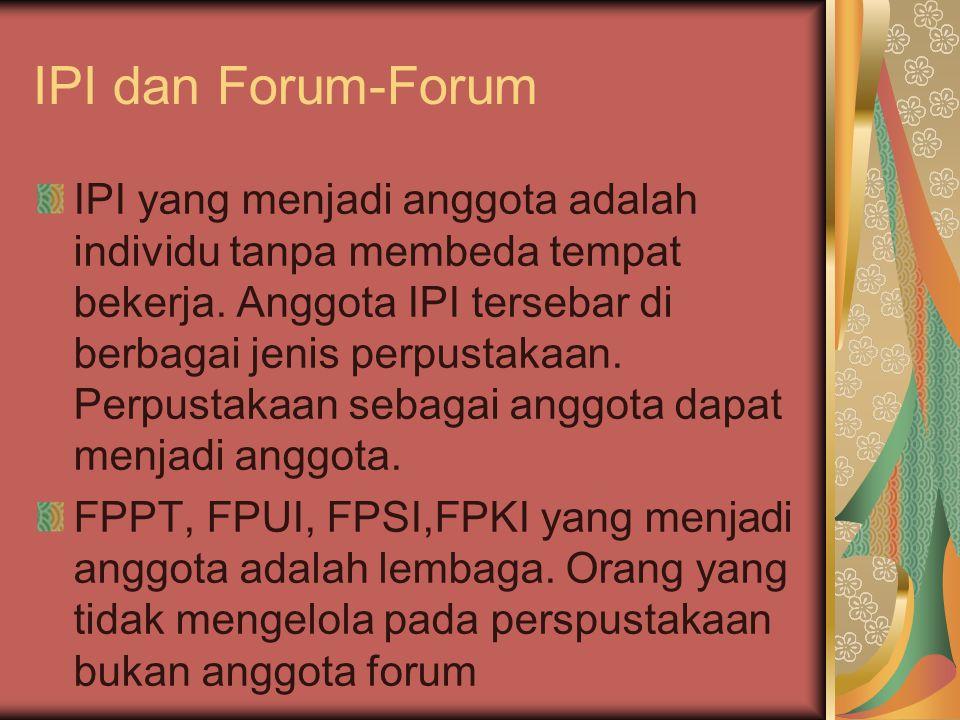 IPI dan Forum-Forum