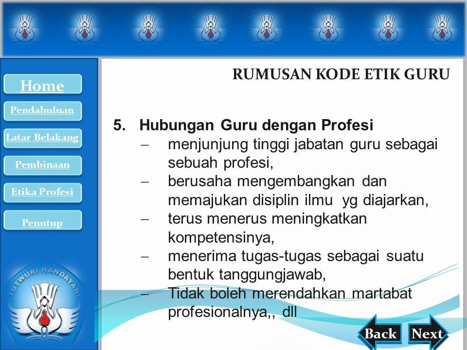 Hubungan Guru dengan Profesi