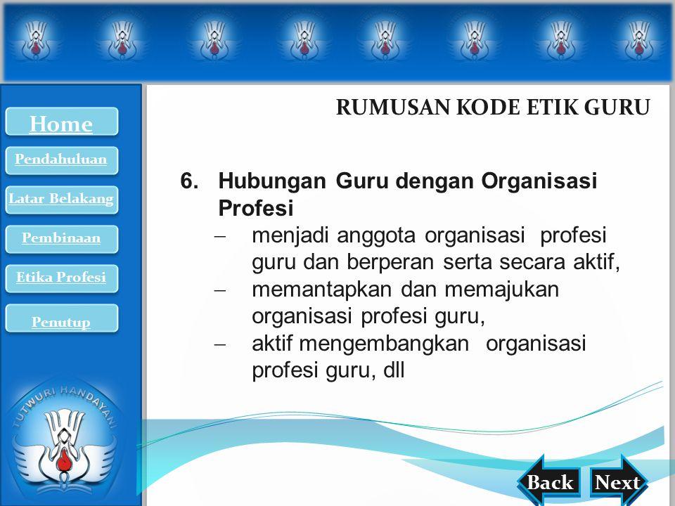 Hubungan Guru dengan Organisasi Profesi