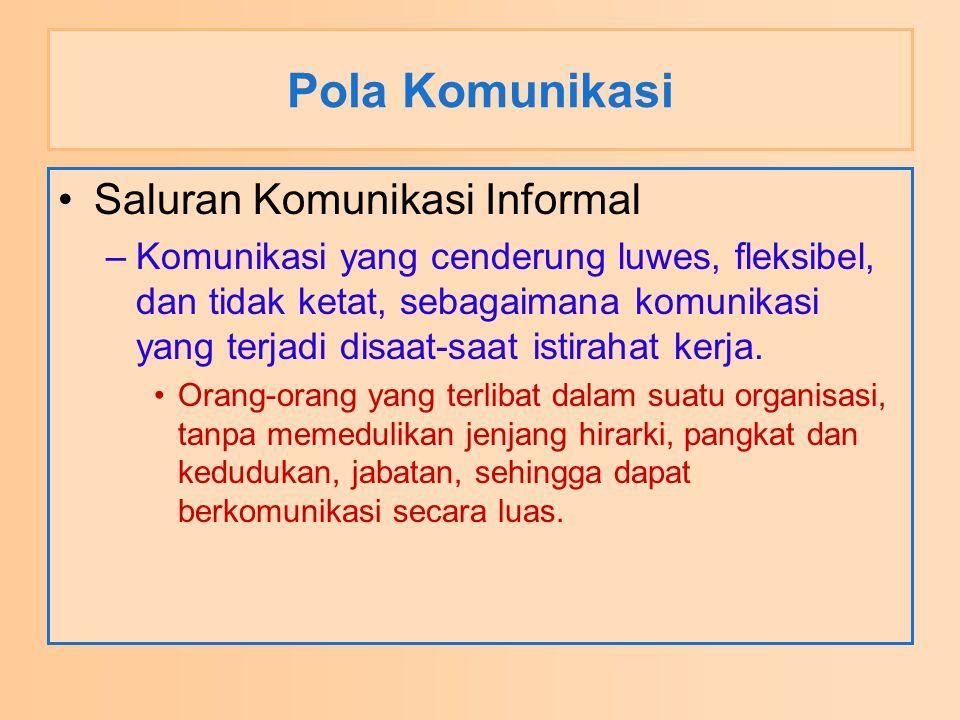 Pola Komunikasi Saluran Komunikasi Informal